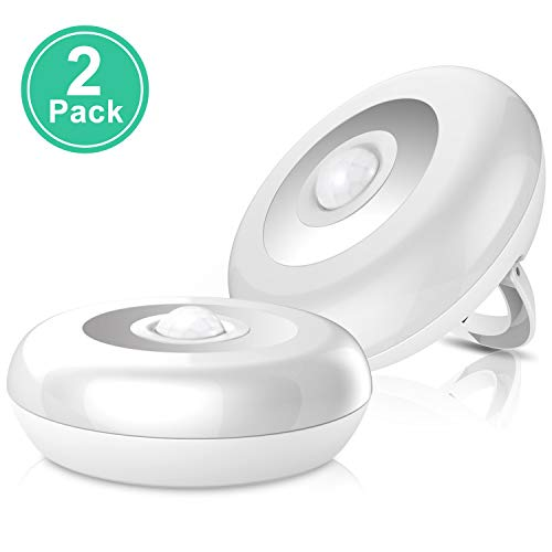 Sunnest Motion Sensor Light, Battery Powered LED Stick-Anywhere Night Light, Closet Light, Puck Light, Under Cabinet Lighting Kit, Wall Light for Hallway, Stairs, Kitchen, Bathroom, Basement, Garage