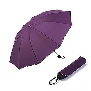 CWAIXX Paraguas doble telescópica pareja paraguas de sombrillas grandes paraguas paraguas UV mujeres doble uso ,