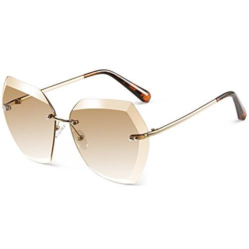 Des Bord Élégantes Ronde lunettes Dames Lunettes 2018 Polygone Cut Cadre de Grand HL soleil Paragraphe Visage Personnalité PHHwxq0rg