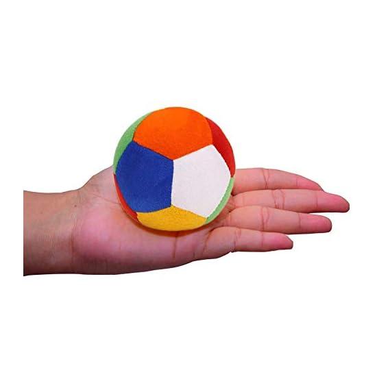 Babique Ball Stuffed Soft Toy Plush for Kids Baby Boy Girl Birthday (6 cm Multi)