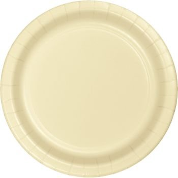 Heavy Duty 7-inch Paper Plates, Ivory