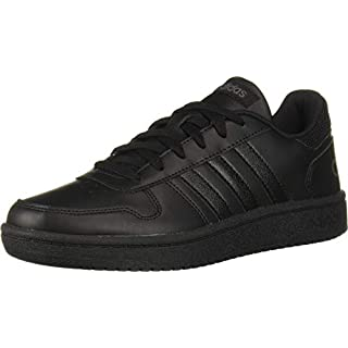 adidas womens Hoops 2.0 Sneaker, Black/Black/Grey, 10 US