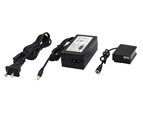 Gonine DMW-DCC8 DMW-AC8 AC Power Adapter DC Coupler Charger Kit DMW-BLC12 Battery Replacement for PANASONIC Lumix FZ300 DMC-FZ200 FZ1000 GH2 G5 G6 G7 GX8 G85 and Sigma DP0Q DP1Q DP2Q (Best Blc12 Battery For Panasonics)