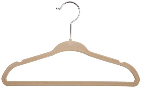 delta children 50 piece velvet infant and toddler hangers, beige