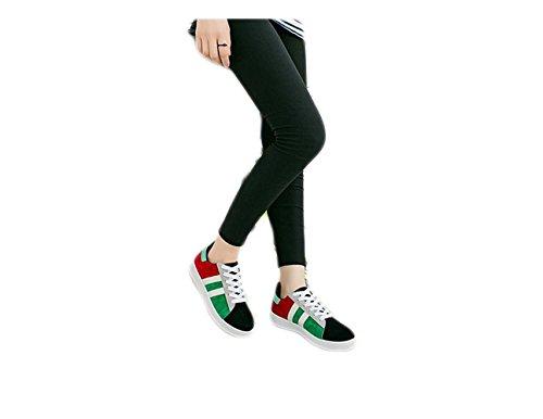 Ein bißchen mode süß mode Fashion Herbst Früling Low-top Studenten Stil Sneaker Schwarz