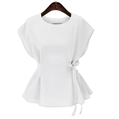 3ac60e784ed Special Beauty Nice Summer Tops Vintage Short Sleeve Women Cotton Linen  Blouses Solid Color Top Elegant