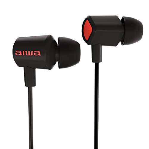 Aiwa Prodigy-1 Premium Earphones – in-Ear Headphones/Wired Earbuds with Remote and Microphone for Samsung Galaxy, Apple, and All Smartphones