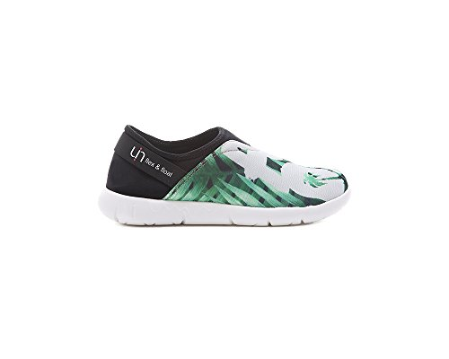 UIN Women's Green Palm Mesh Cloth Comfort Slip On Shoe Green P3bmSGA