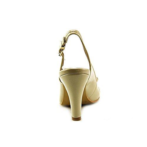Giani Bernini Womens Carlynn Peep Toe Slingback Klassieke Pumps Licht Zand