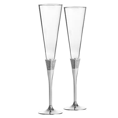 Lismore Diamond Toasting Champagne Flute Glass (Set of 2)