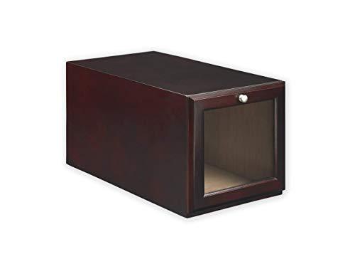 ShoeTrap Mahogany Hightop/Heel Shoe Storage Box ST-20MA,
