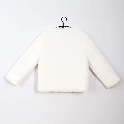 Piel Larga Mujer Termica Corto Outerwear Blanco Sólido Modernas Fashion Invierno Color Abrigos Elegantes Sintética Espesar Huixin Manga Chaqueta De RpqwxEI5Bn