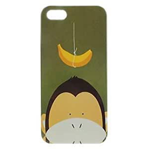 AES - Cartoon Monkey Pattern Hard Case for iPhone 5/5S