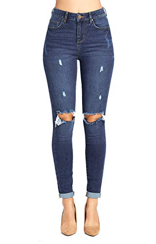 (Blue Age Women's Well Stretch Destroyed Denim Skinny Jeans (JP1083_MD_1))