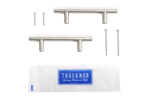 (25 Pack) TrueKnob SOLID Stainless Steel Cabinet Pull Hardware | Brushed Satin Nickel Finish | 3'' Hole Centers | (25 PACK) by TrueKnob (Image #1)