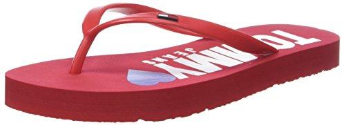 Flip Love tango 611 Beach Women''s Tj Flops Sandal Jeans Red Tommy qEzYgq