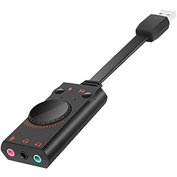ZengBuks Adaptador de Tarjeta de Sonido USB Adaptador de ...