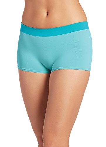 - Jockey Women's Underwear Modern Micro Seamfree Boyshort, Sea Blue, 8