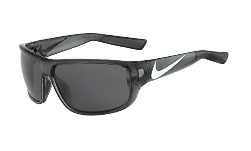 Nike Dark Grey Lens Mercurial 8.0 Sunglasses, Crystal Mercury Grey/Metallic - 8.0 Mercurial Nike