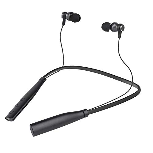 2019 Wireless Outdoor Neckband Headset Sport Calling Bluetooth Earphones for Running for Gym Bluetooth 4.2 TF Card Earpiece with MP3 Player New in Ear Design Lightweight Auriculares cuffie(Black)