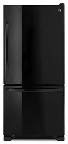 Price comparison product image Kenmore 79319 19 cu. ft. Bottom Freezer Refrigerator in Black,  includes delivery and hookup