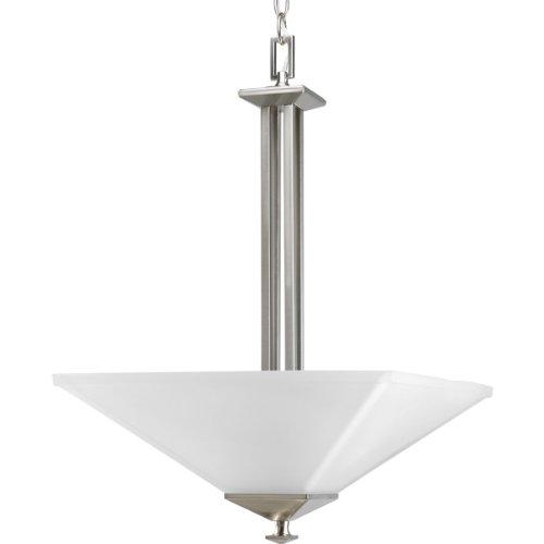 (Progress Lighting P3906-09 2-Light North Park Inverted Pendant, Brushed Nickel)