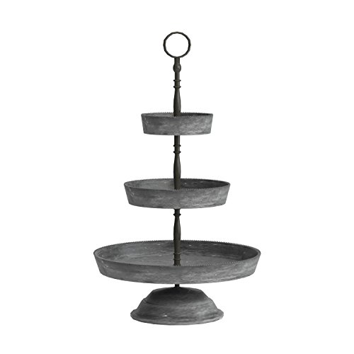 300b88f722 Deco 79 Farmhouse 3-Tiered Round Metal Tray Stand 22
