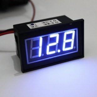 Phoneix 6-32V Car Motorcycle LED DC Digital Display Voltmeter Waterproof Meter Blue