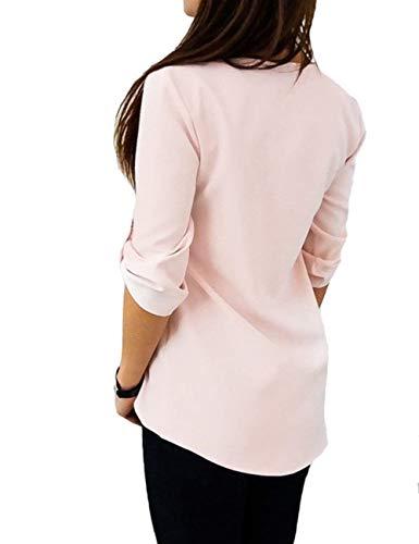 Branch Manche Boucle Elgante Sangles Blouse Shirts V Longues Slim Blouse Femme Chic Haut Mtallique Uni Croises Mode Chemise Manches Confortable Printemps Grau Fit Cou pfZqHcwF
