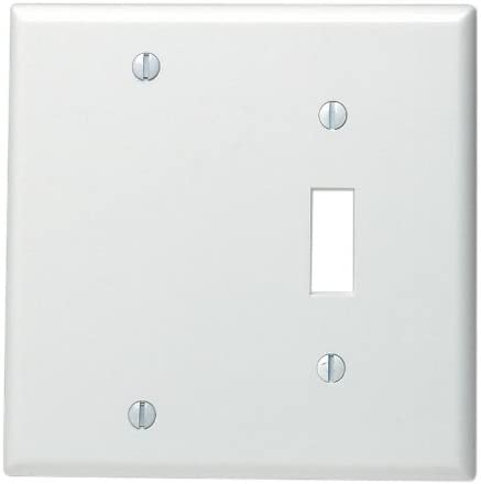 Leviton 88006 2 Gang 1 Toggle 1 Blank Device Combination Wallplate Standard Size Thermoset Box Mount White Combination Switch Outlet Plates Amazon Canada