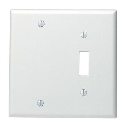 Leviton 88006 002 000 1 Toggle 1 Blank Standard Size Wall Plate 2