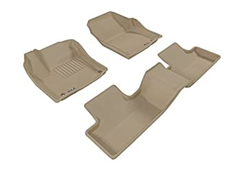 3D MAXpider Complete Set Custom Fit All-Weather Floor Mat for Select Land Rover Range Rover Evoque Models Kagu Rubber Gray L1LR00601502