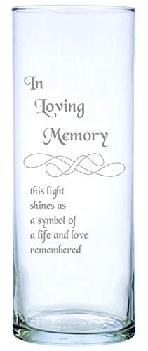 IE Laserware Beautifully Etched Memorial Candle Comes Complete with 3