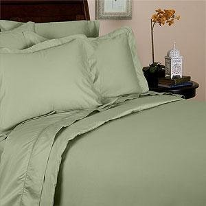 Solid Sage Percale King Size Sheet Set 100 % Cotton (Deep Pocket) 300 Thread count By Sheetsnthings - 1000tc King Sheet Set
