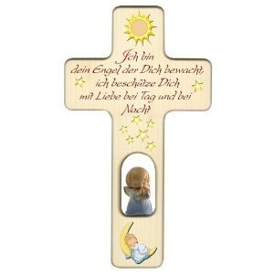 F/ür Jungen Mond und Schutzengel Kreuz mit Sonne