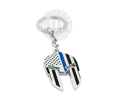 Logo Keychain Helmet (1 NEW BLACK BLUE CHROME METAL