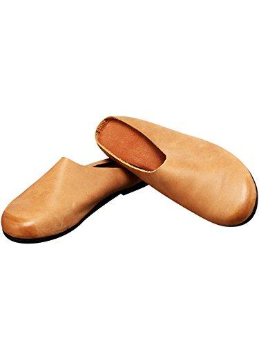 Style en Cuir à Enfiler Youlee Été Brown Chaussures 2 Printemps Pantoufles Femmes xXxgfzRn