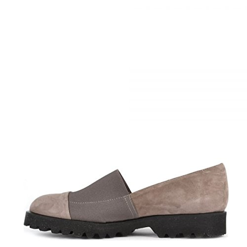 Elia B Zapatos Easy Track Taupe Mocasines de Ante Mujer Taupe