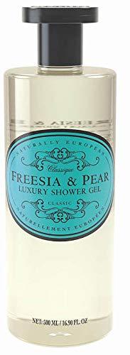 (Naturally European - Freesia & Pear - Shower Gel, 500 ml / 17 fl oz )