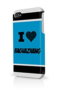 Baguazhang Blue iPhone 4 Case Fits iPhone 4 & iPhone 4S Full Print Plastic Snap On Case