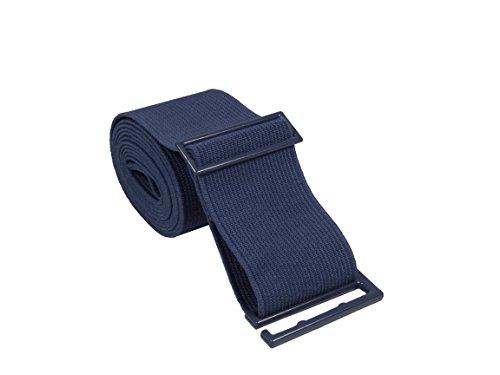 Gelante Lady Invisible Belt - Web Canvas Elastic Adjustable Skinny No Show Belt-2051-Navy (0-14)