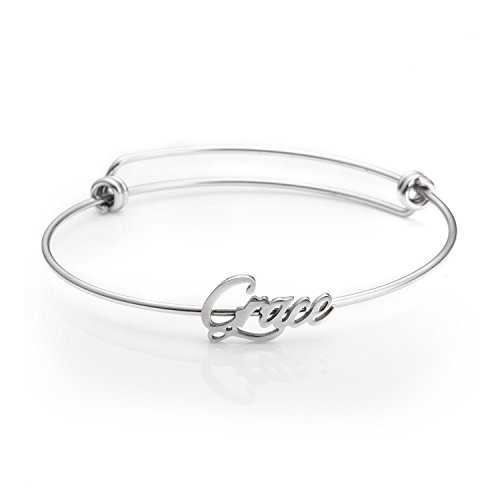 Birthday Gifts for Friend Customized Personalized Name Bracelets Jewelry Women Name Grace ()