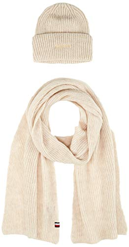 Tommy Hilfiger Damen Effortless Scarf & Beanie Gp Mütze, Schal & Handschuh-Set