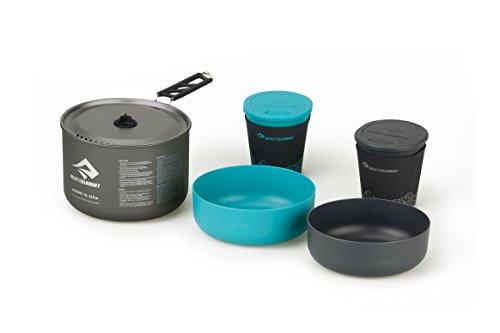 Sea to Summit Alpha 2.7 L Pot 2 Bow 2 Mugs Cook Set, Grey, 1.2 L Pot