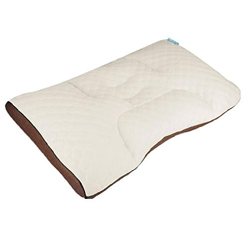 (PANCY Polyethylene Pipe Pillow 17x25in Janpanese Style for Stomach Sleeper, with Polyester Fabric Removable Pillow Cover (polyethylene Pipes Adjustable)