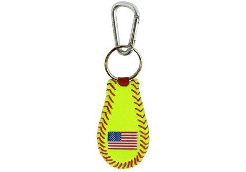 GameWear American Flag Keychain Classic Softball