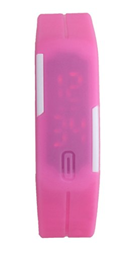 USPRO® (Pink) Fashion LED Watch Novelty Sports Silicone Digital Bracelet With Very Creative Plastic Band