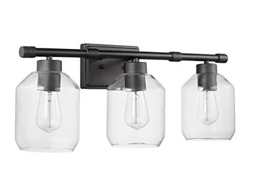 Stone & Beam Modern 5-Piece Vanity Wall Sconce with Bathroom Hardware Set, -