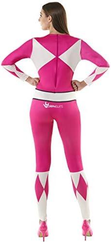 Morphsuits Disfraz de Mujer Oficial Rosado Power Rangers Vestuario ...