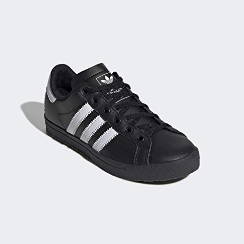 adidas Originals Men's Coast Star Sneaker, Black/White/Black, 6.5